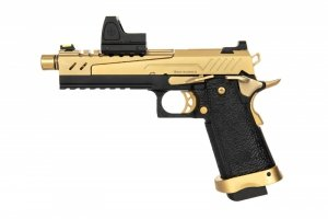 Replika pistoletu Hi-capa 5.1 Split Slide - czarna / złota (z celownikiem BDS)