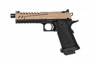 Replika pistoletu Hi-capa 5.1 Split Slide - tan / czarna