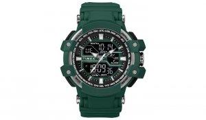 Timex - Zegarek Tactic DGTL Combo Watch - Marine Green - TW5M22800