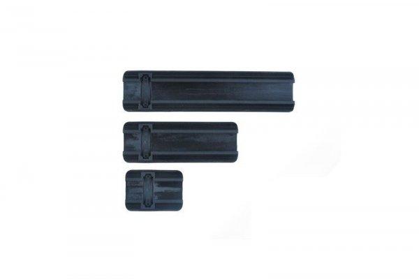 Element - Zestaw osłon na szyny RIS - czarny