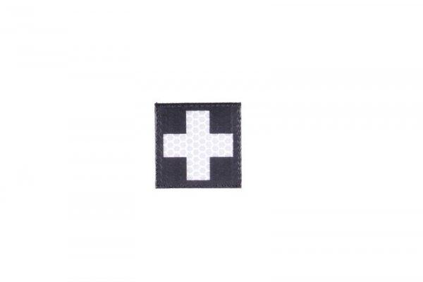 Naszywka IR - Krzyż medyczny - czarny