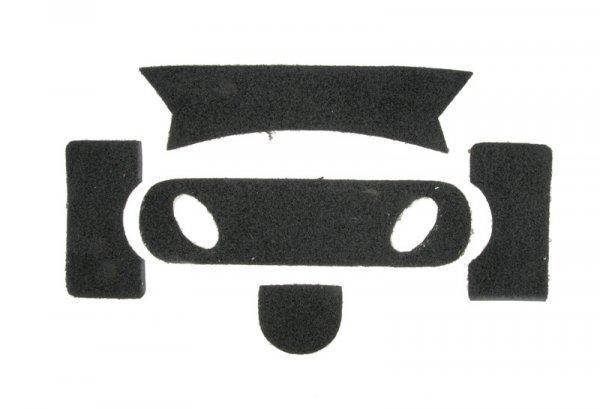 Zestaw rzepów do hełmu typu PJ - czarny