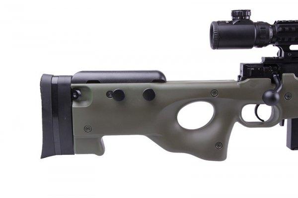 Replika karabinu snajperskiego 4402D (z lunetą i dwójnogiem) - olive