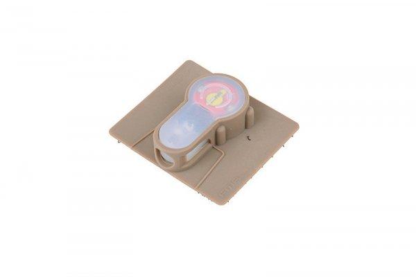 Marker elektroniczny Lightbuck Velcro - dark earth (czerwone światło)