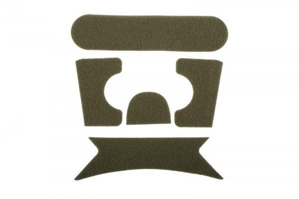 Zestaw rzepów do hełmów typu Ballistic - olive drab
