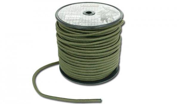 FOSCO - Linka elastyczna Bungee Cord - 6 mm - Zielony OD - 1 metr