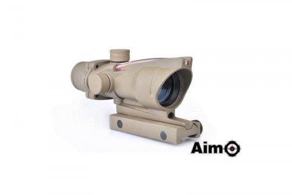 Aim-O - Luneta ACOG 4X32C ze światłowodem - tan