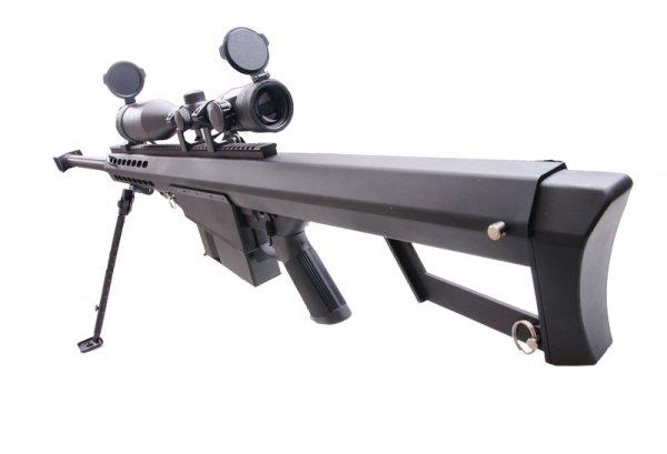 Replika karabinu wyborowego SW-02A z lunetą i dwójnogiem - czarna