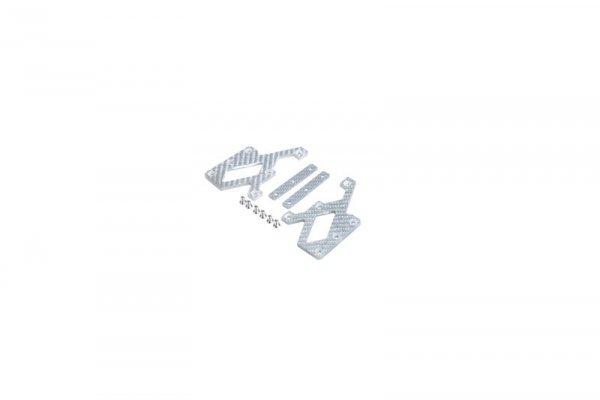Elementy montażowe z włókna węglowego do kolimatorów C-More - Srebrny