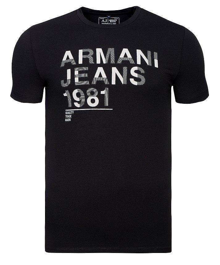 T-SHIRT MĘSKI ARMANI JEANS CZARNY