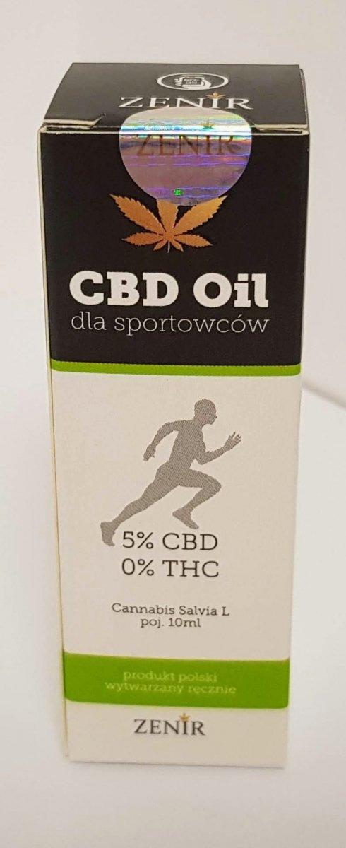 Olejek CBD 5% dla sportowców