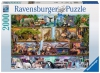 Puzzle 2000 Ravensburger 166527 Królestwo Dzikich Zwierząt