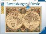 Puzzle 5000 Ravensburger 174119 Antyczna Mapa Świata