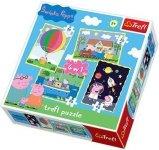 WYPRZEDAŻ: Puzzle 4w1 Trefl T-34131 Świnka Peppa