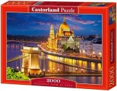 Puzzle 2000 Castorland C-200405 Budapest View at Dusk