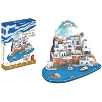 Puzzle 3D CubicFun 129 Santorini - Duży Zestaw - MC195h