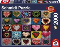 Puzzle 2000 Schmidt 58327 Serca z Kwiatów