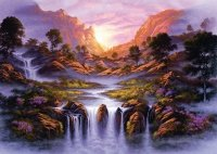 Puzzle 1000 Schmidt 59321 Jon Rattenbury - Zjawiskowy Wodospad
