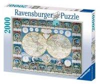 Puzzle 2000 Ravensburger 166701 Mapa Historyczna