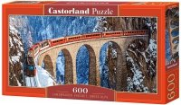 Puzzle 600 Castorland B-060016 Pociąg - Wiadukt Landwasser - Alpy Szwajcarskie