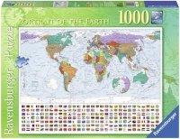 Puzzle 1000 Ravensburger 192885 Mapa Ziemi