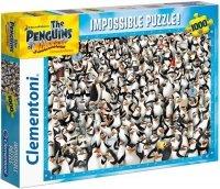 Puzzle 1000 Clementoni 39362 Pingwiny z Madagaskaru