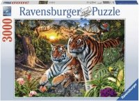 Puzzle 3000 Ravensburger 170722 Rodzina Tygrysów