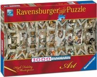 Puzzle 1000 Ravensburger 150625 Michał Anioł - Kaplica Sykstyjska - Panorama