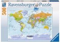 Puzzle 500 Ravensburger 147557 Polityczna Mapa Świata