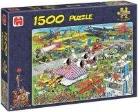 Puzzle 1500 Jumbo 01488 Pokaz Samolotów - Jan van Haasteren