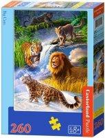 Puzzle 260 Castorland B-27415 Duże Koty