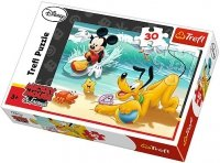 Puzzle 30 Trefl 18207 Miki i Pluto na Plaży