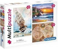 Puzzle 3x1000 Clementoni 08108 Multi Puzzle - Marynarska Przygoda