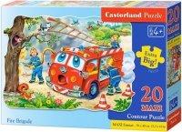 Puzzle 20 Maxi Castorland C-02146 Wóz Strażacki - Straż Pożarna