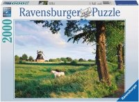 Puzzle 2000 Ravensburger 166350 Konie przy Wiatrakach