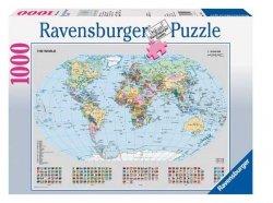 Puzzle 1000 Ravensburger 156528 Polityczna Mapa Świata