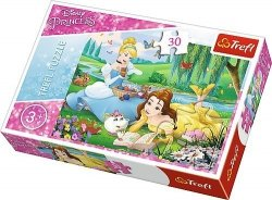 Puzzle 30 Trefl 18223 Księżniczki - Bella i Kopciuszek
