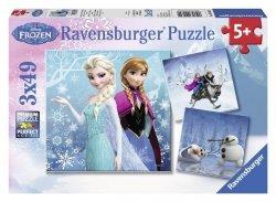 Puzzle 3x49 Ravensburger 092642 Frozen - Kraina Lodu 3w1