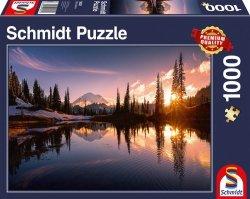 Puzzle 1000 Schmidt 58321 Zachód Słońca w Górach