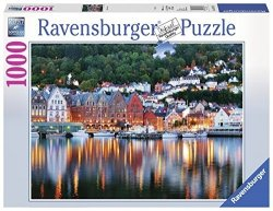 Puzzle 1000 Ravensburger 197156 Bergen - Norwegia