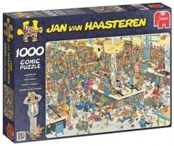 Puzzle 1000 Jumbo 17466 Jan Van Haasteren - Kolejka w Supermarkecie