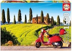 Puzzle 1500 Educa 17121 Skuter w Toscani