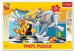 Puzzle Ramkowe 15 Trefl 31214 Tom i Jerry
