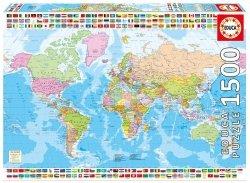 Puzzle 1500 Educa 17117 Polityczna Mapa Świata