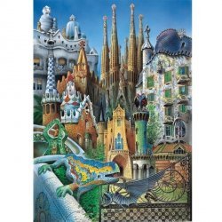 Puzzle 1000 Educa 11874 Collage - Gaudi