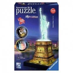 Puzzle 3D 108 Ravensburger 125968 Statua Wolności Noc