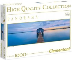 Puzzle 1000 Clementoni 39330 Domek na Wodzie - Blue Calm - Panorama