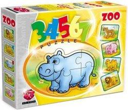 ! Pierwsze Puzzle Malucha Maxim 3,4,5,6,7 Zoo