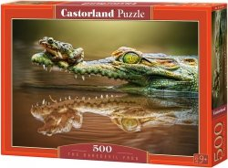 Puzzle 500 Castorland B-52318 Krokodyl i Żabka