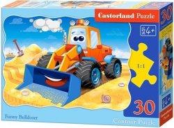 Puzzle 30 Castorland B-03600 Buldożer - Koparka - Spychacz